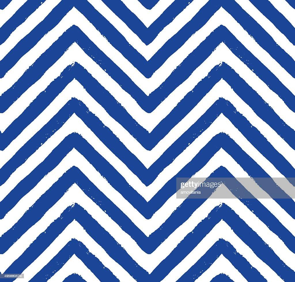 Vector Chevron Blue Seamless Pattern