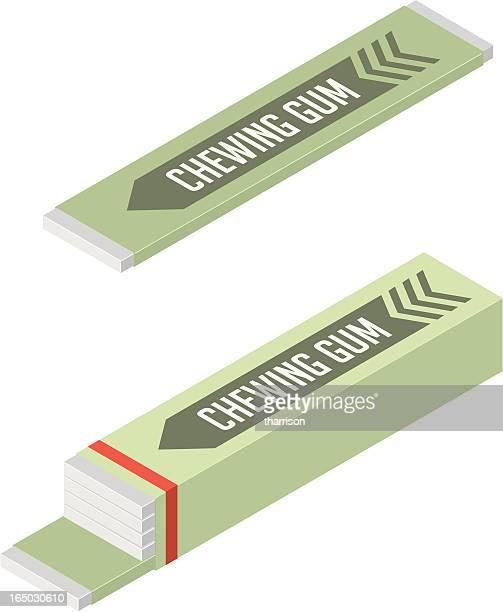 vector chewing gum - bubble gum stock illustrations