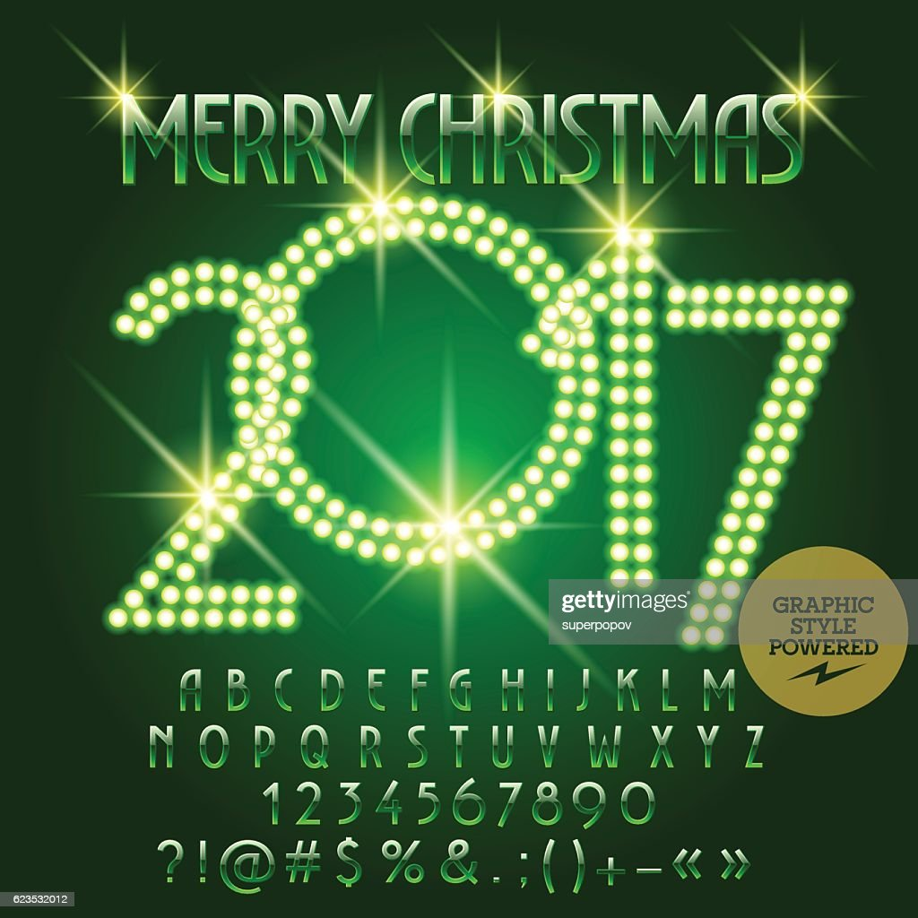 Vector chic light up merry christmas 2017 greeting card vector art vector chic light up merry christmas 2017 greeting card vector art m4hsunfo