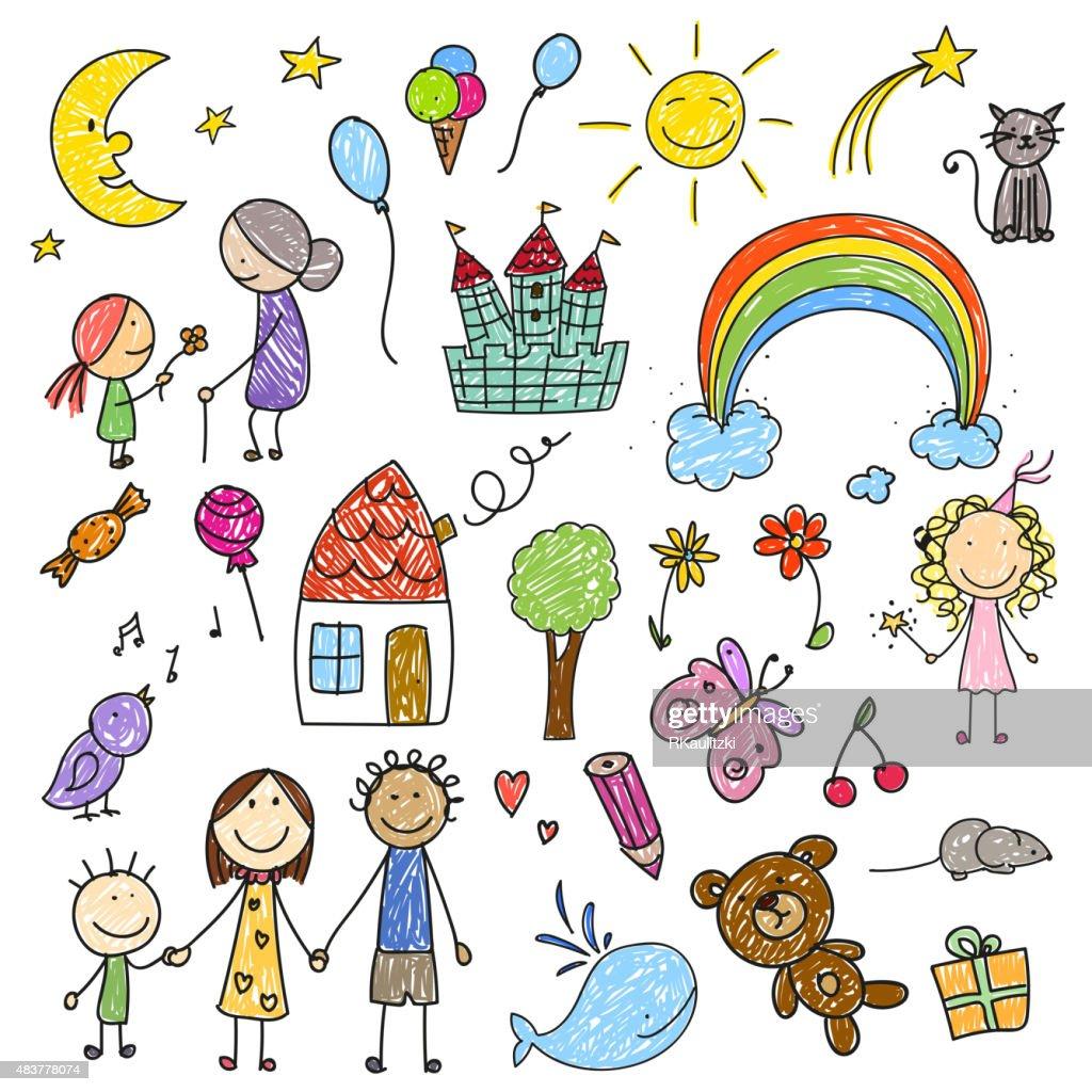 Vector Children Drawings