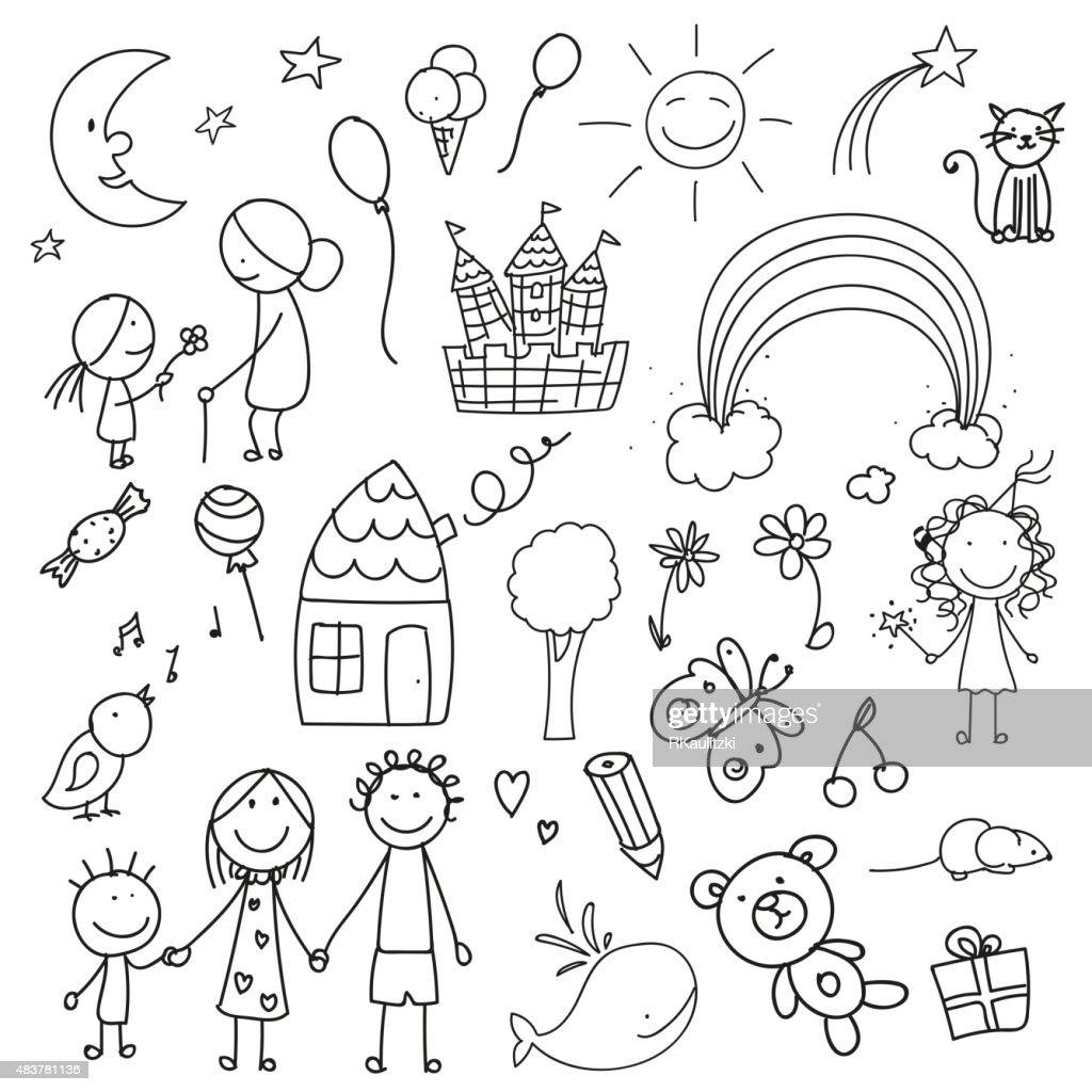 Vector Children Drawings
