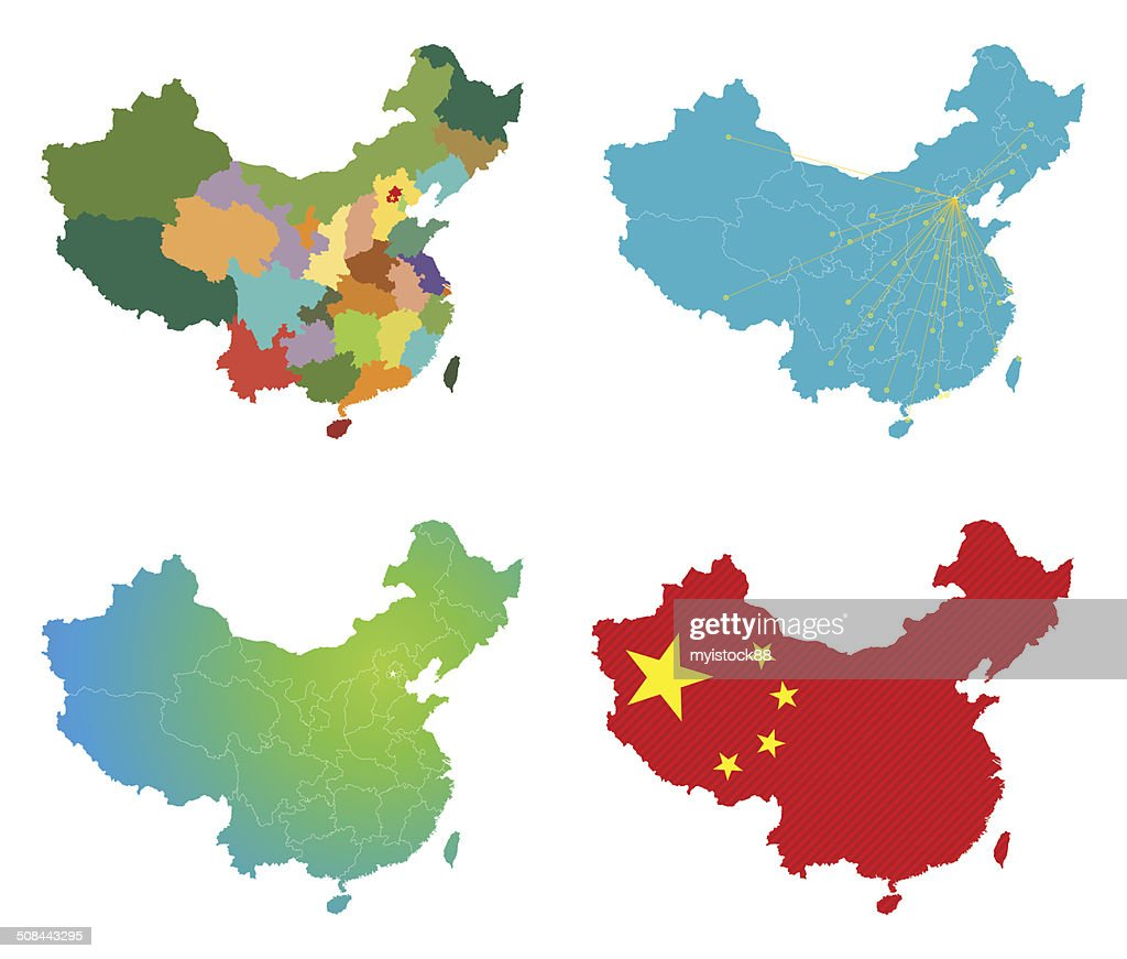 Vector China Map Vector Art Getty Images