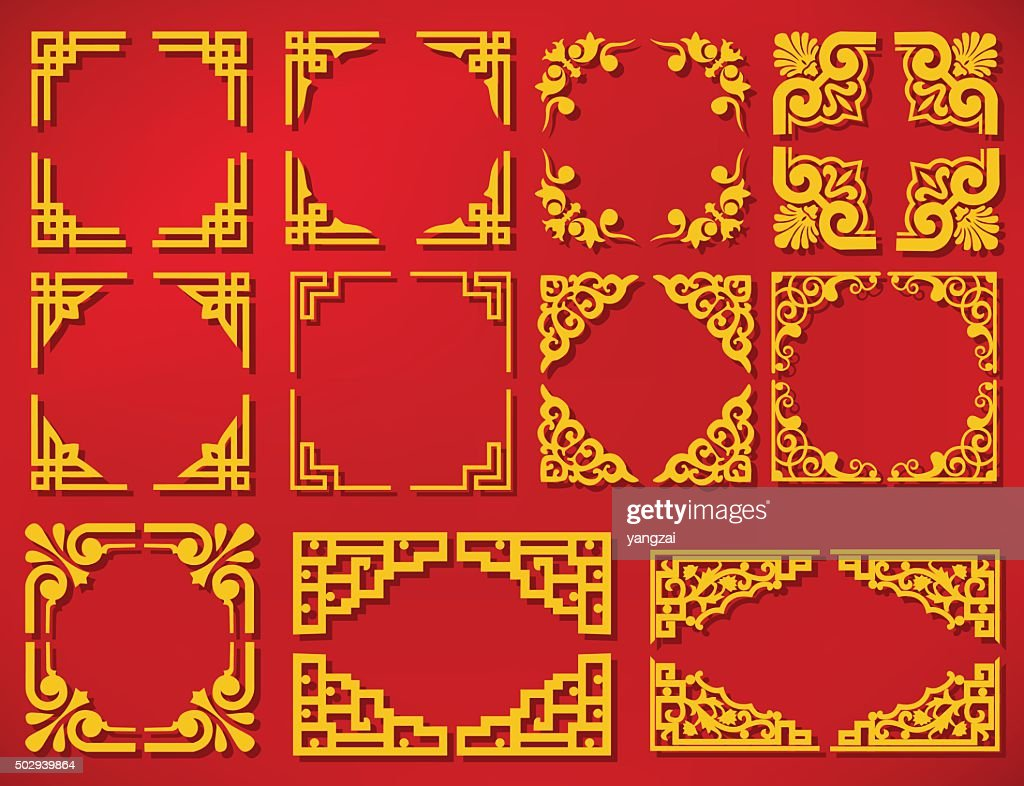vector china new year frame