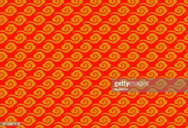 Vector Chinese oriental traditional cloud seamless pattern background