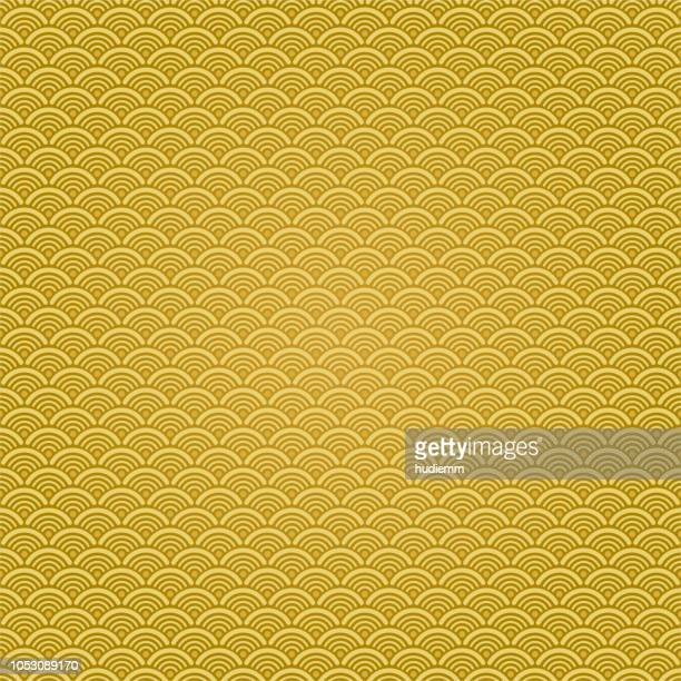 vector chinese traditional wave pattern background - china stock illustrations