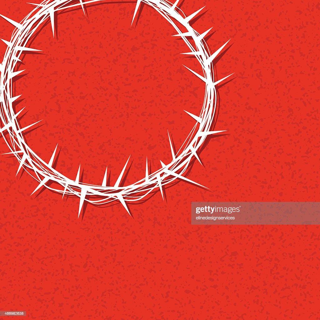 Vector Christ Crown of Thorns Illustration