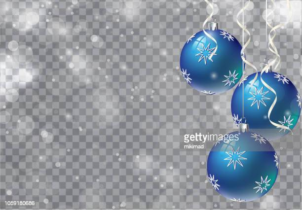 vector christmas background. transparent. copy space. - christmas ornament stock illustrations