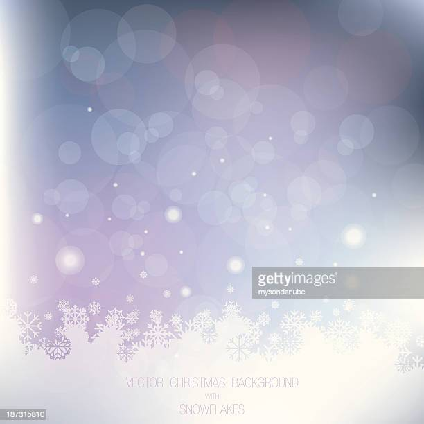 vector christmas background with snowflakes - high key stock illustrations, clip art, cartoons, & icons