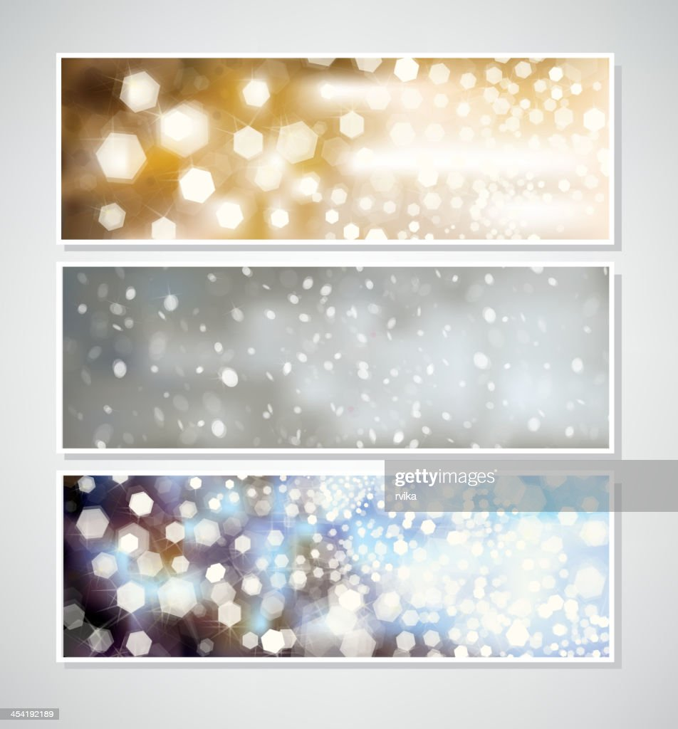 Vector Christmas banners for design. : Vector Art