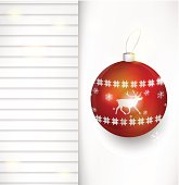 Vector Christmas bauble background