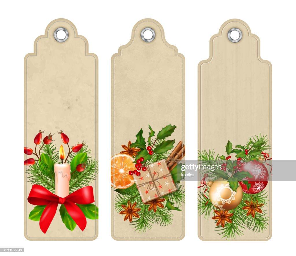 Vector Christmas Bookmark