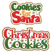 Vector Christmas Cookies for Santa Titles Christmas Illustrations