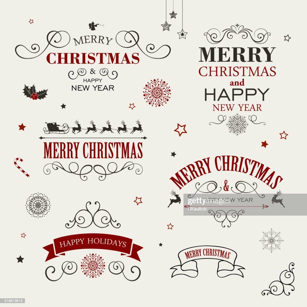 Vector Christmas Design Elements