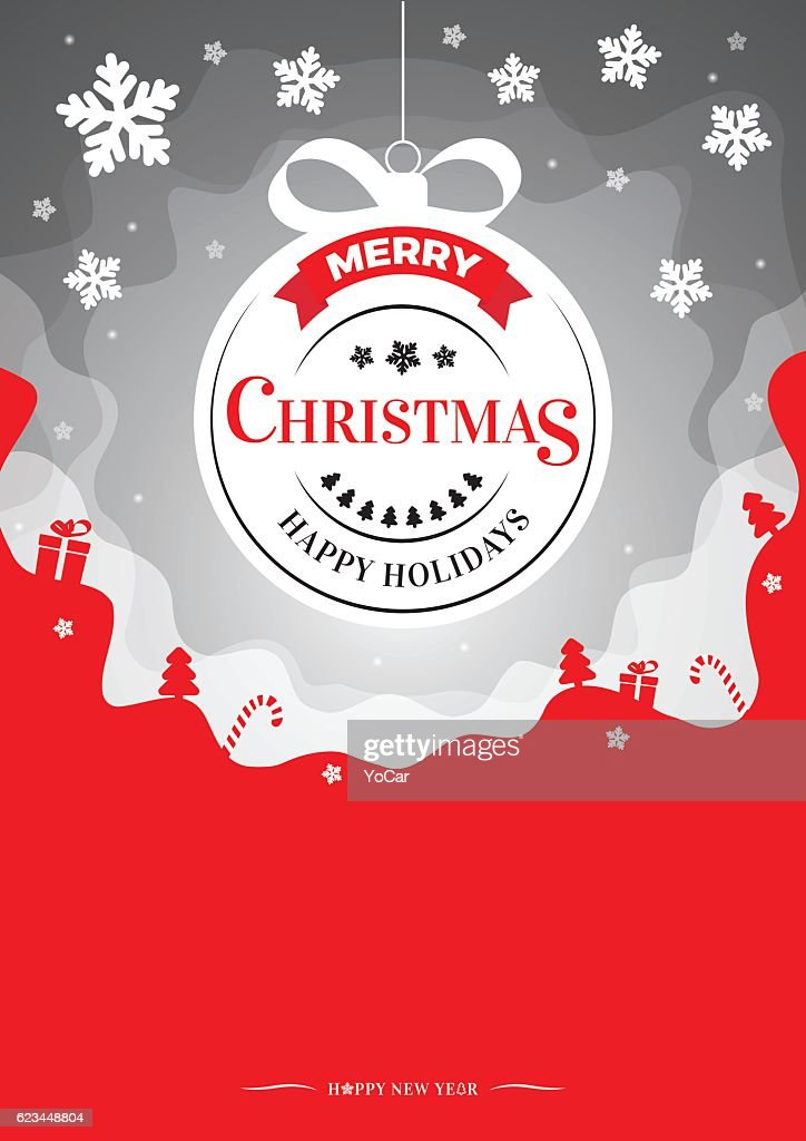 Vector Christmas illustration - magic background, flyer or invitation