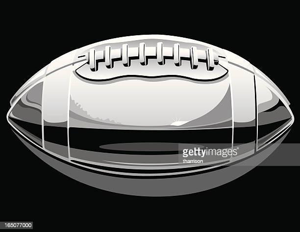 vector chrome football - chrome stock illustrations, clip art, cartoons, & icons