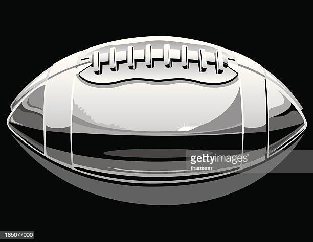vector chrome football - steel stock illustrations