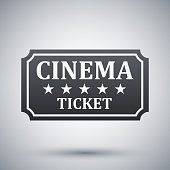 Vector cinema ticket icon