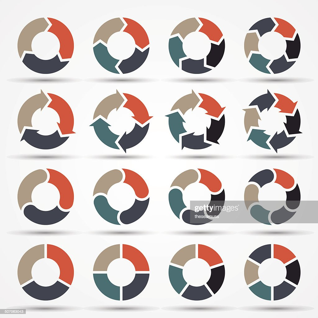 Vector circle arrows for business infographic, diagram, graph, chart.