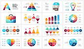 Vector circle arrows infographic, cycle diagram, business graph, presentation chart. Options, part, step, process. Human head, light bulb, briefcase, timeline, heart love, pyramid, letter A