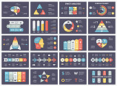 Vector circle arrows infographic, cycle diagram, business graph, presentation chart. Options, part, step, process. Human head puzzle brain, light bulb, briefcase, timeline, startup rocket, pyramid, heart love, SWOT analysis