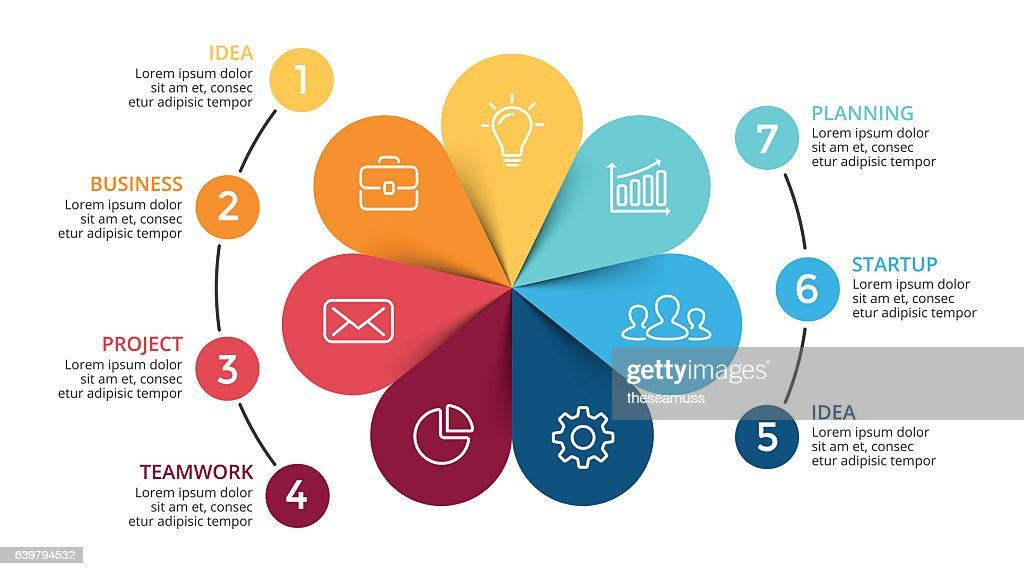 Vector circle arrows infographic, cycle diagram, flower graph, presentation chart