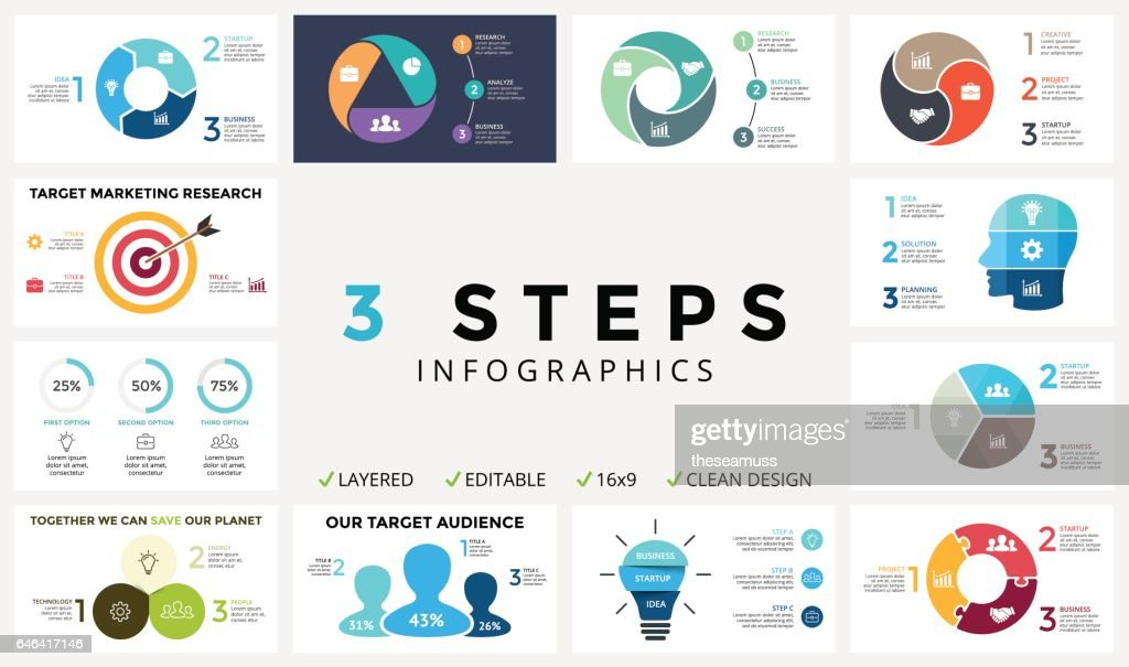 Vector circle arrows infographic, cycle diagram, graph, presentation chart. Business concept with 3 options, parts, steps, processes