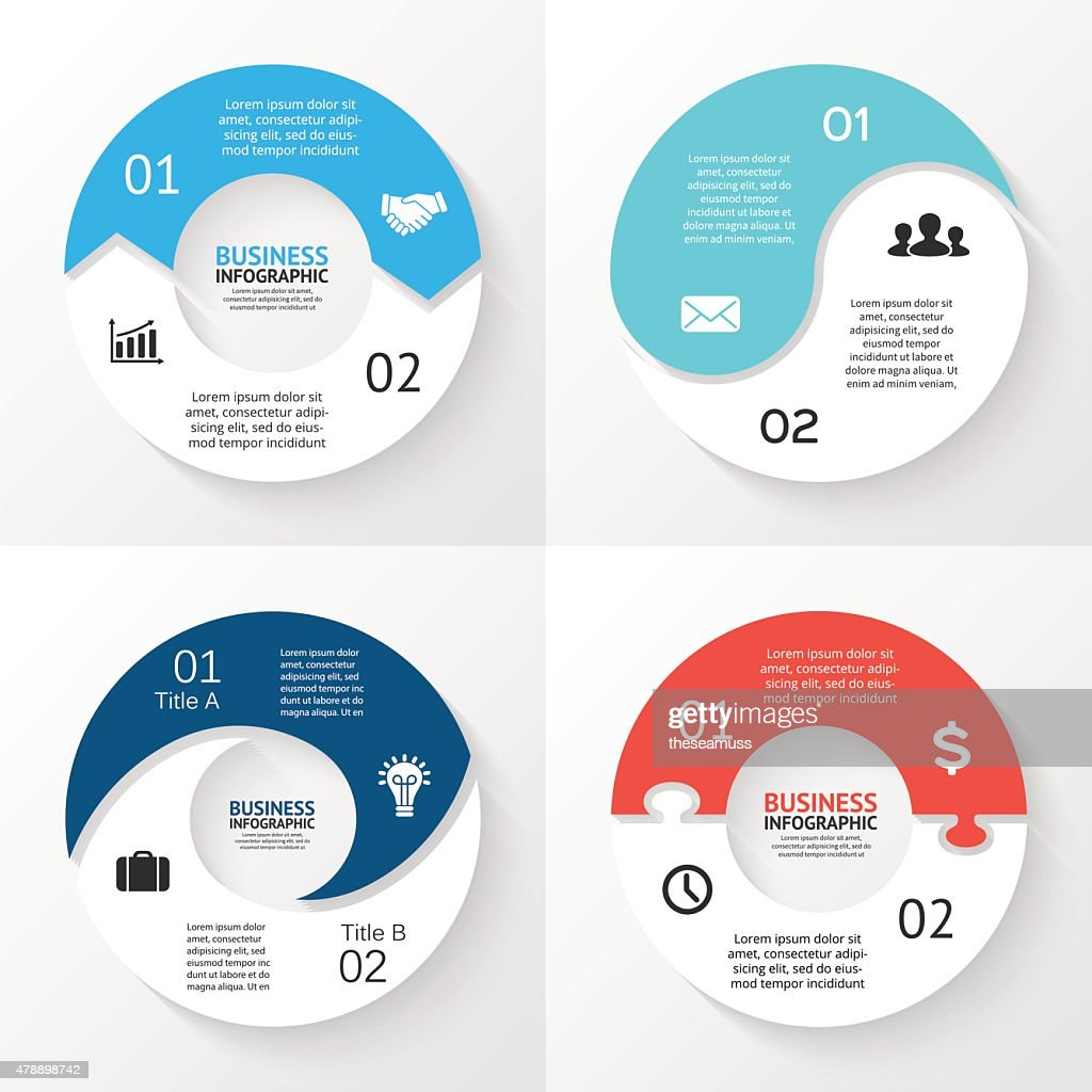 Vector circle arrows infographic. Template for cycle diagram, graph, presentation