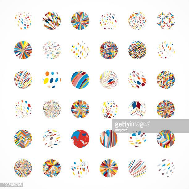 vector circle buttons collection - visual china group stock illustrations