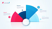 Vector circle chart design, modern infographic template