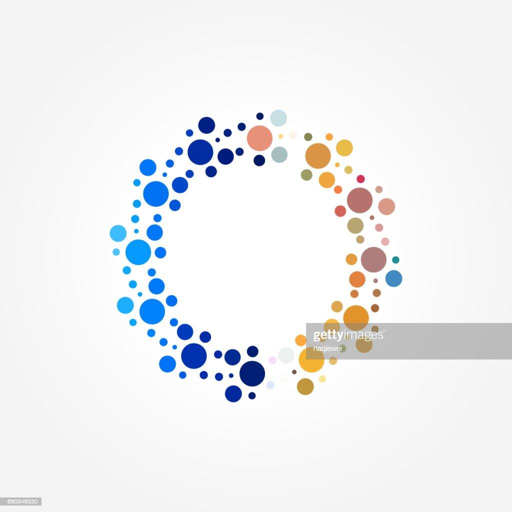Vector circle dots pattern