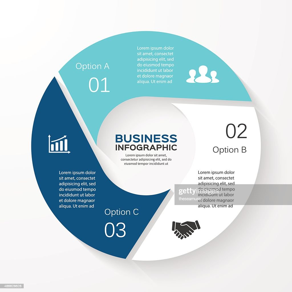 Vector circle infographic. Template for cycle diagram, graph, presentation and