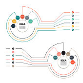 Vector circle infographic. Template for diagram, graph, presentation and chart. Business concept with 6,12 options, parts, steps or processes. Abstract background.