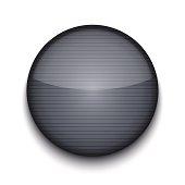 Vector circle metal app icon