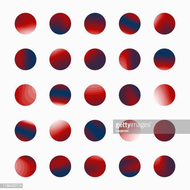 illustrations, cliparts, dessins animés et icônes de collection de boutons de motif cercle vectoriel pour la conception - texture douce