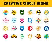 Vector Circle  Template  Set