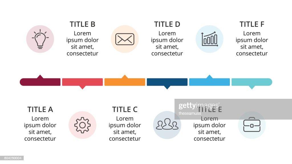 Vektorkreis Timeline Infografik Diagramm Jahre Graph Präsentation ...