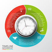 Vector circles elements for timeline infographic.