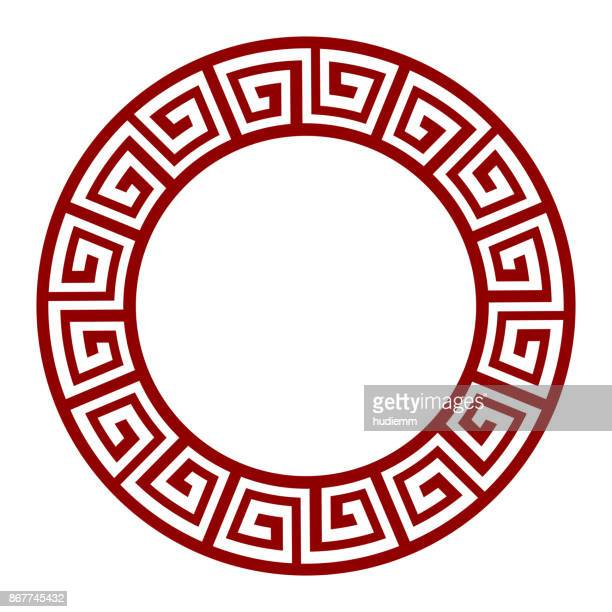 Vector Circular Frame of Chinese Style