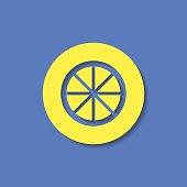 Vector citrus icon.  Food icon. Eps10