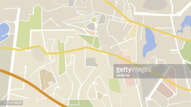 ベクトル市の地図 - 副操縦士点のイラスト素材/クリップアート素材/マンガ素材/アイコン素材
