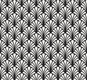 Vector Classic Floral art nouveau Seamless pattern. Stylish abstract art deco texture.