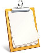 Vector clipboard isolated on white