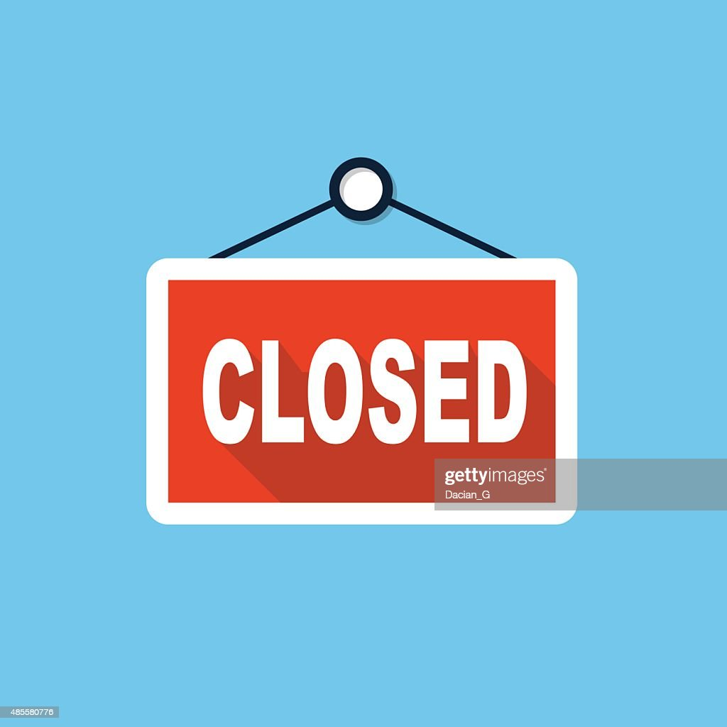 Vector closed store sign