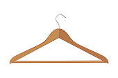 Vector Clothe hanger hooden isolated fashion object empty accessory boutique