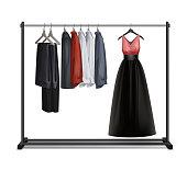Vector clothes rack
