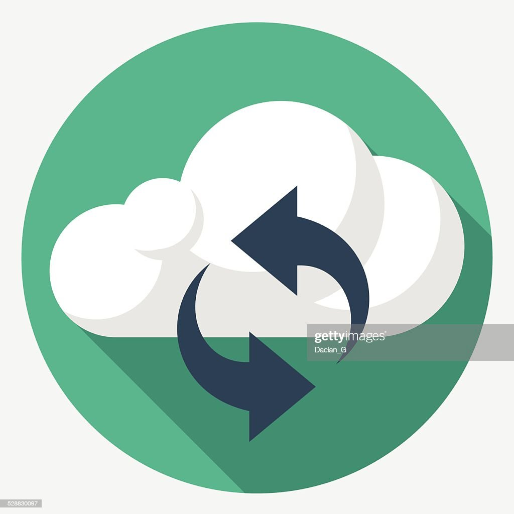 Vector cloud sync icon