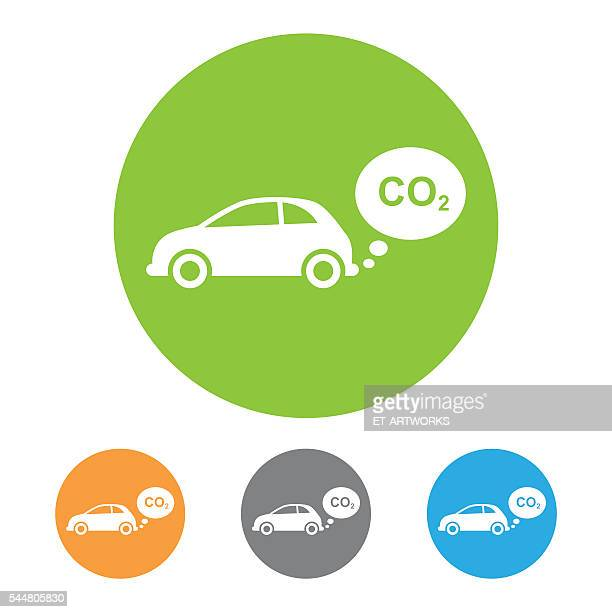 vector co2 emissions icon - vapor trail stock illustrations, clip art, cartoons, & icons