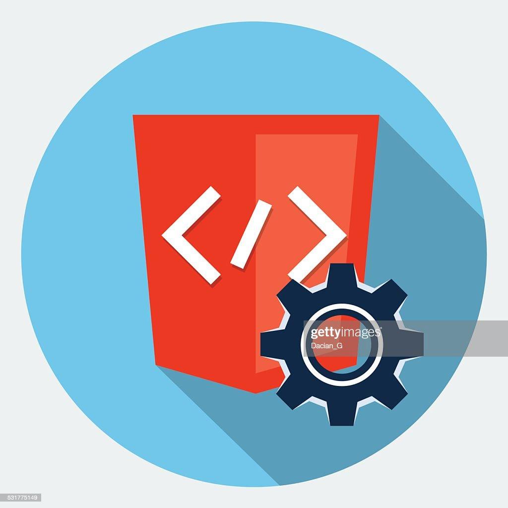 Vector code  maintenance icon