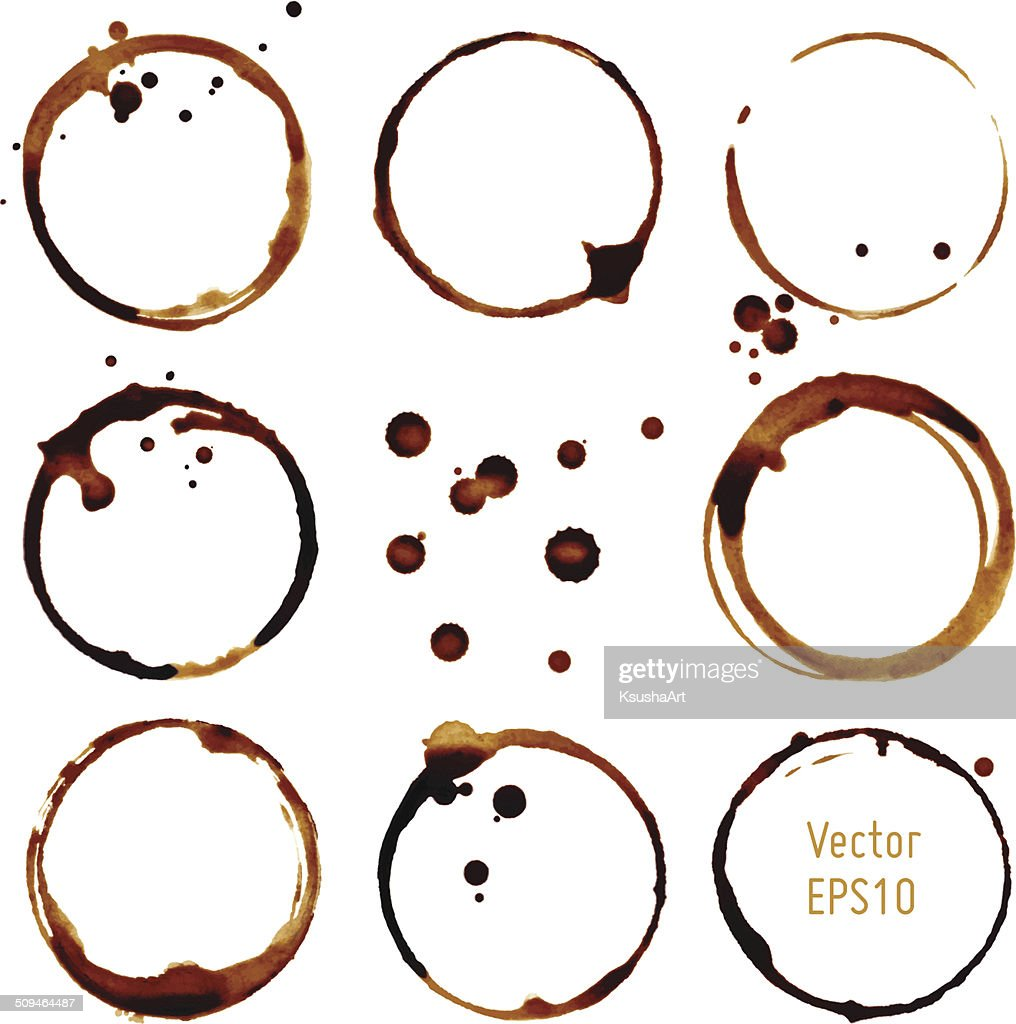 Vector coffee cup stains