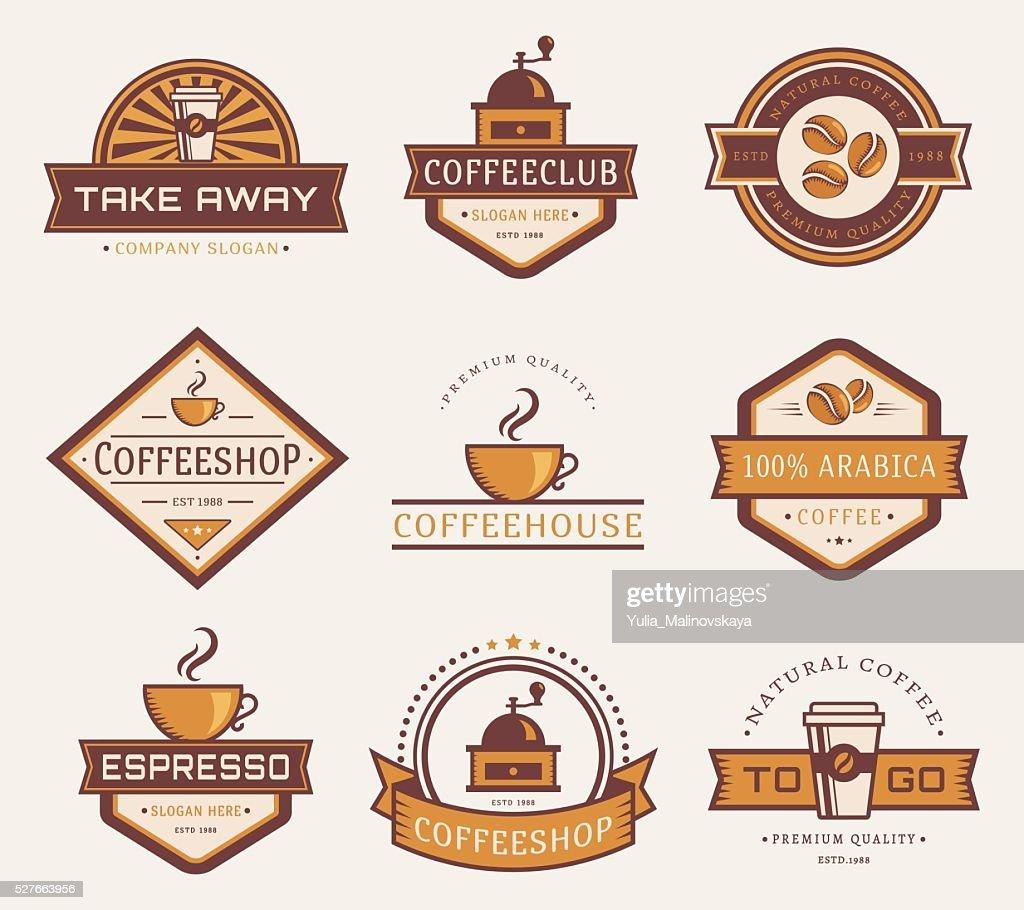 Vector coffee logos.